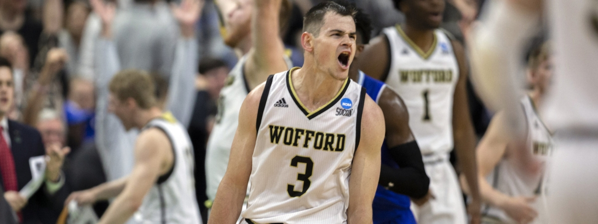 Wofford guard Fletcher Magee lets out a yell Thursday (Stephen B. Morton)