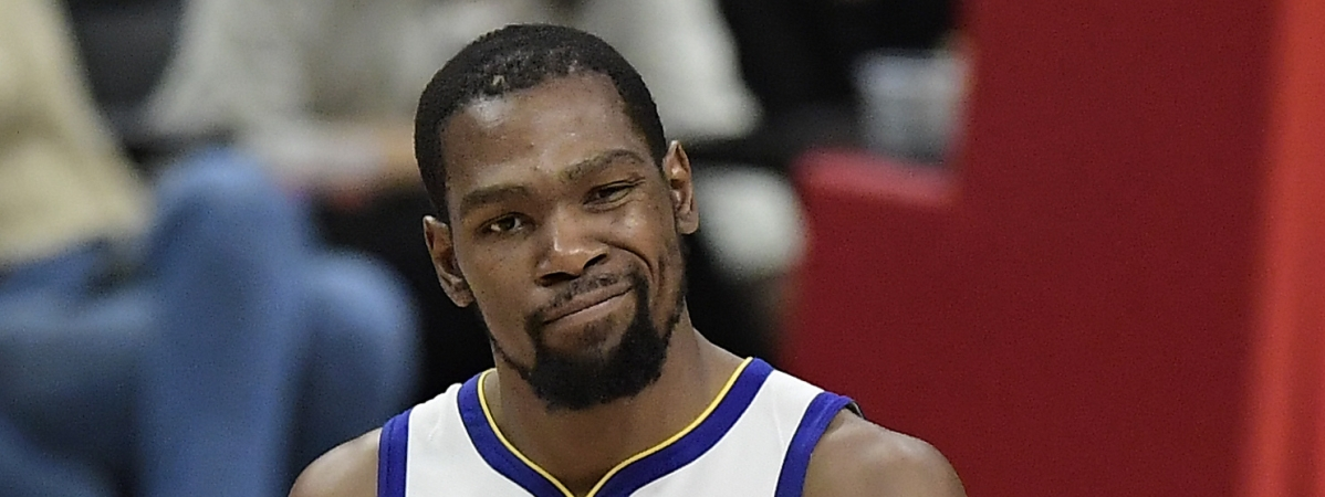 Golden State Warriors forward Kevin Durant is now eyeing the Houston Rockets. (AP Photo/Mark J. Terrill)