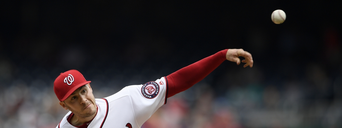 Washington Nationals pitcher Patrick Corbin in the fifth inning against the San Francisco Giants, Thursday, April 18, 2019, in Washington. (AP Photo/Nick Wass)