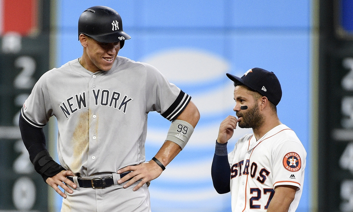 Swish Analytics deep dive game of the day - Yankees v Astros w/Aaron Judge, Gerrit Cole and Minute Maid Park