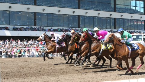 Racing at Canterbury Park