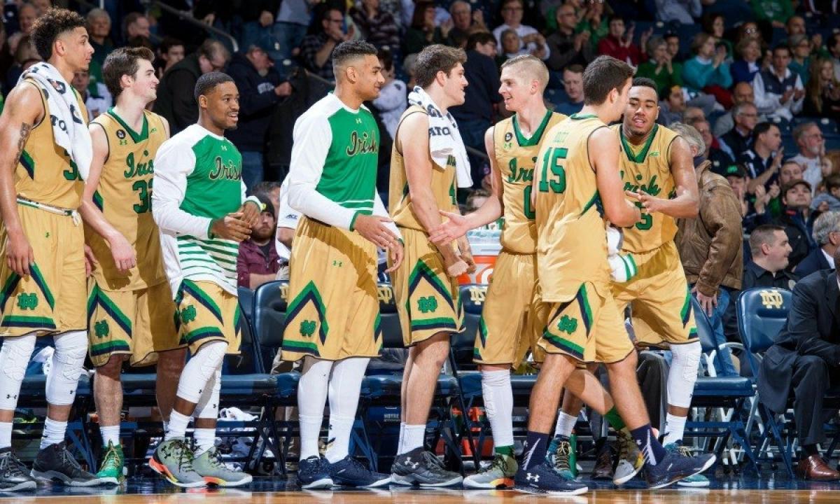 MIke Brey's Notre Dame basketball team.