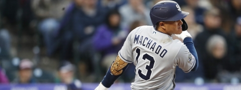 Incarcerated Bob is looking for a big game tonight from the San Diego Padres' Manny Machado. (AP Photo/David Zalubowski)
