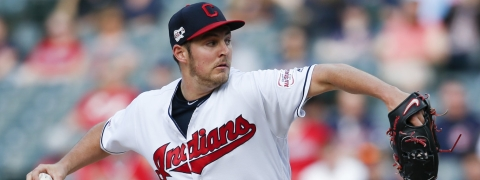 Indians' Trevor Bauer pitches in a May 6 game against the White Sox (Rob Schwane)