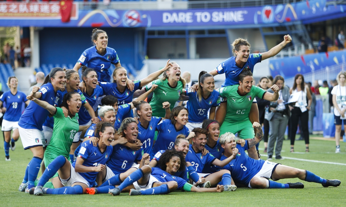 Italy tops China 2-0 to reach first Women's World Cup quarterfinal since 1991