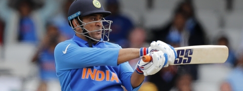 India's MS Dhoni bats during the Cricket World Cup match between India and Australia at the Oval in London, Sunday, June 9, 2019.(AP Photo/Frank Augstein)
