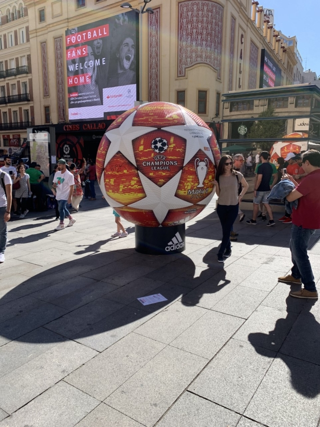 The Champions League Fan Fest in Madrid on Friday.