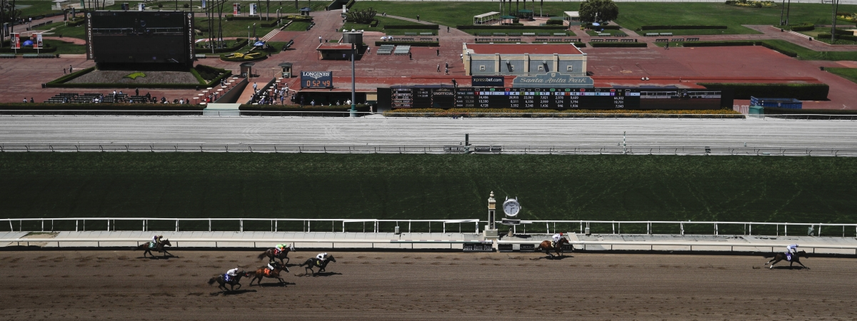 Santa Anita Racetrack. (AP Photo/Chris Carlson)