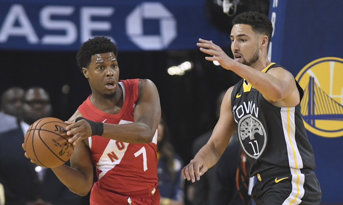 Dino-might! Raptors top Warriors 114-110; Toronto hangs on against depleted Golden State to win first title