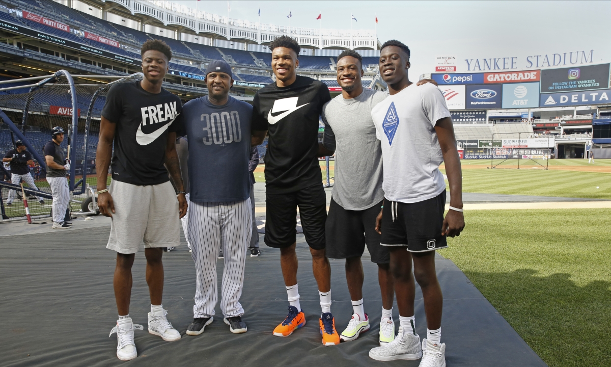 NBA MVP Giannis Antentokounmpo gives baseball a shot at Yankee Stadium; Greek Freak decides to stick with basketball