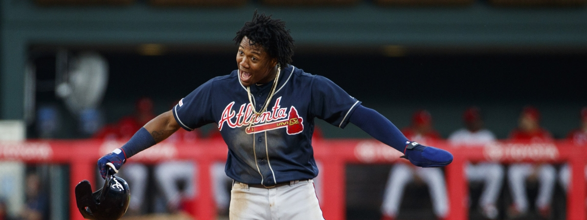 Ronald Acuna Jr. helped the Braves put up a nine spot against the Phillies on July 26 (Chris Szagola)