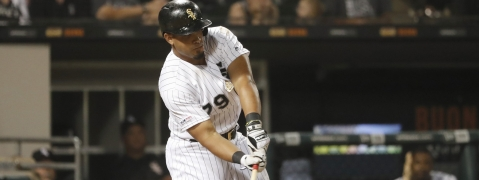 White Sox's Jose Abreu hits a three-run walk-off home run in  the 12th inning on July 3 (Charles Rex Arbogast)