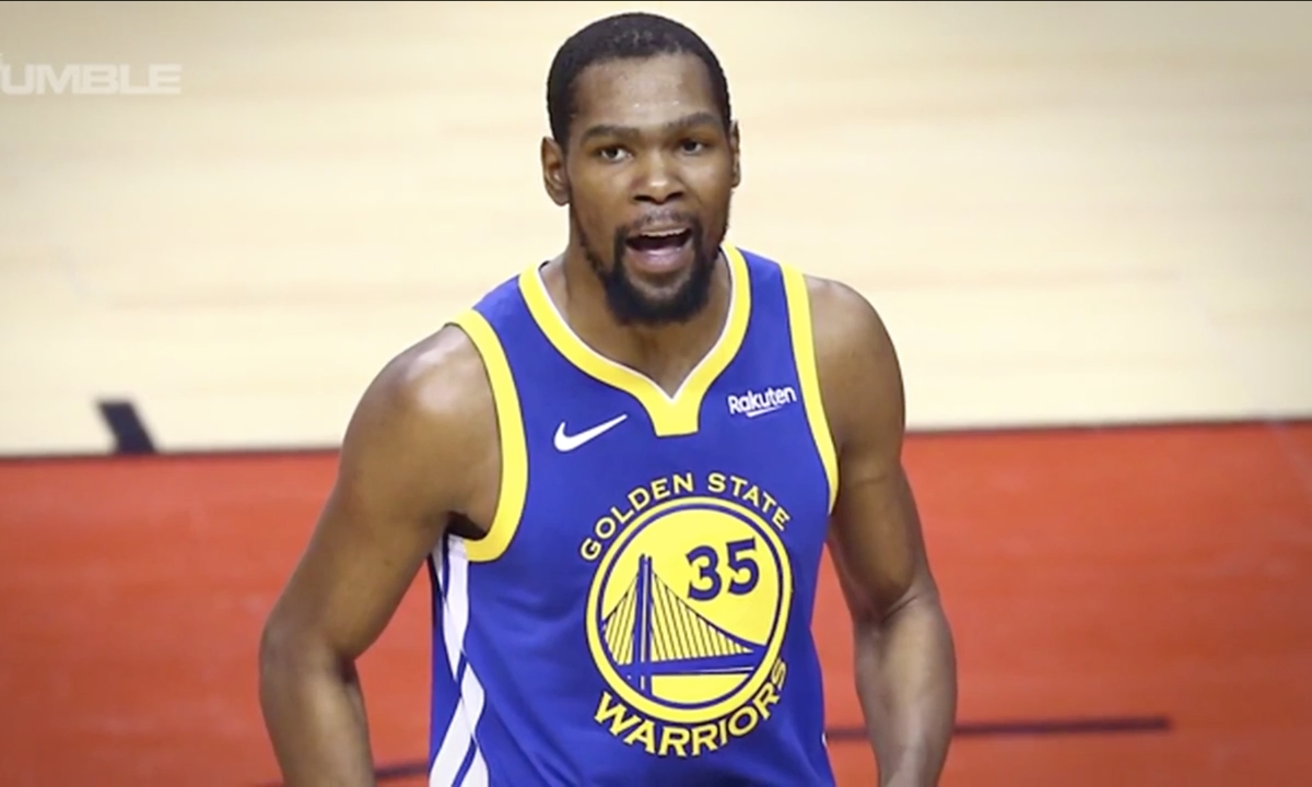 NBA: Kevin Durant Throws Heavy Shade at Golden State Warriors After Joining Brooklyn Nets - The Fumble (video)