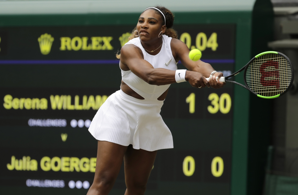 Serena Williams tops Julia Goerges in straight sets to reach Wimbledon 4th round,  American Alison Riske upsets Belinda Bencic, Querrey wins