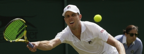 United States' Sam Querrey plays Wednesday, August 21 at the ATP Winston Salem Open.