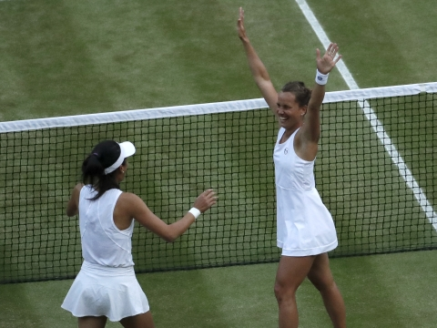 Barbora Strycova & Hsieh Su-wei win Wimbledon women's doubles; Ivan Dodig & Latisha Chan win mixed; Shintaro Mochizuki wins junior boys