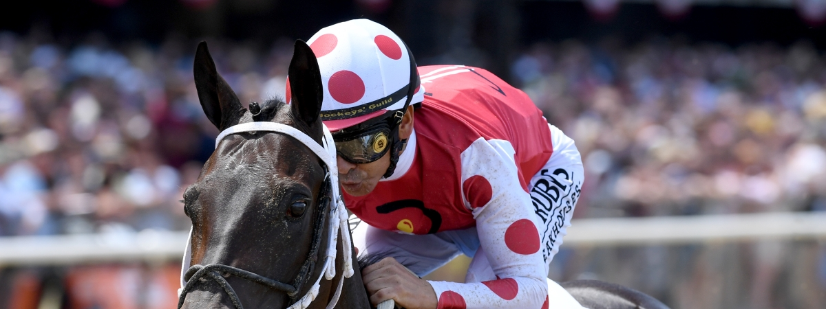 Midnight Bisou, in the Ogden Phipps in June, will be a heavy favorite today in the G3 Molly Pitcher at Monmouth.