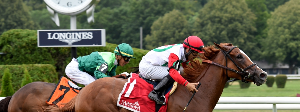 Regal Glory won the Lake George in July. Can she also win the Lake Placid? Garrity thinks so.