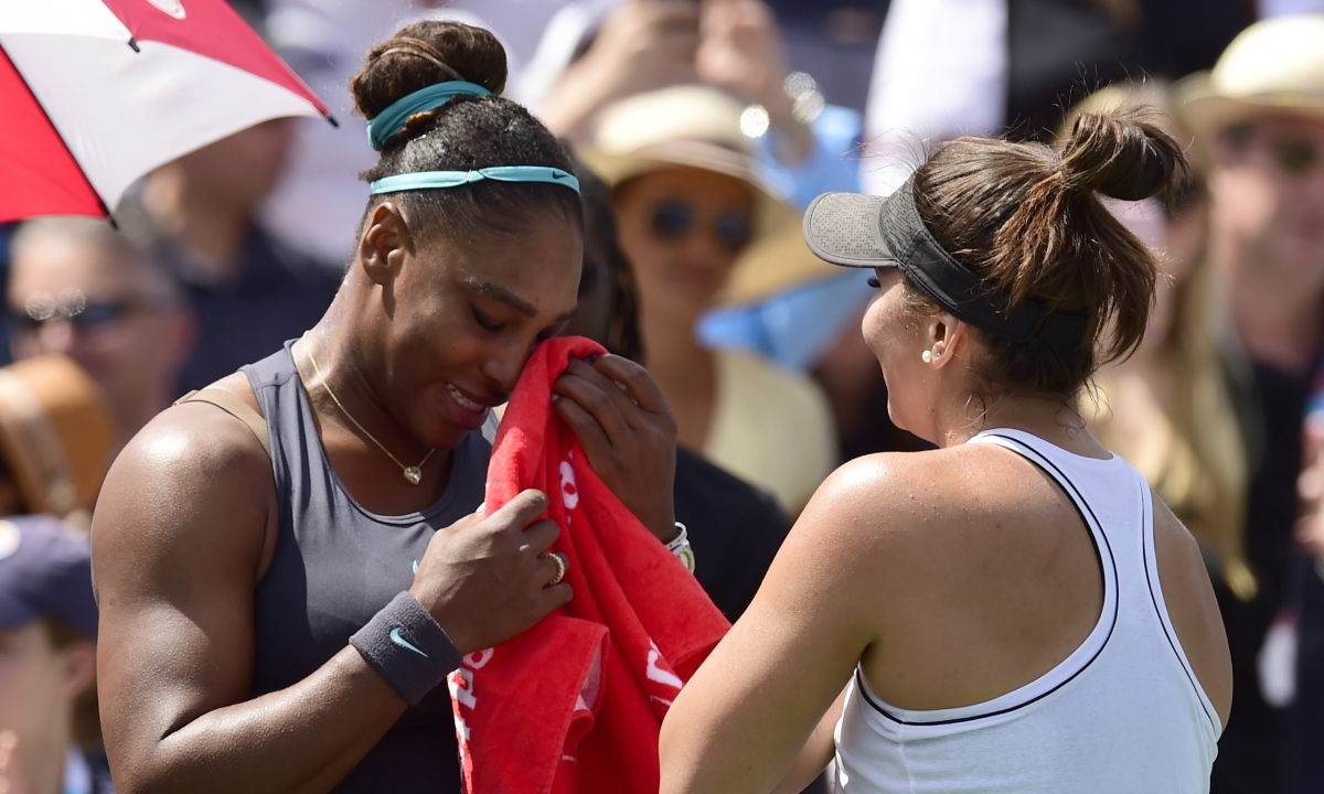Bianca Andreescu wins Rogers Cup title as Serena Williams retires down 3-1 in first set