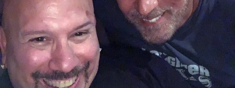 Tony Luke Jr. (left) and his friend/comedy mentor, Craig Shoemaker