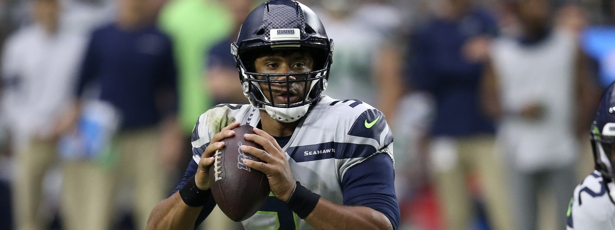 Seattle Seahawks quarterback Russell Wilson (3) looks to throw against the Arizona Cardinals during the second half of an NFL football game, Sunday, Sept. 29, 2019, in Glendale, Ariz.