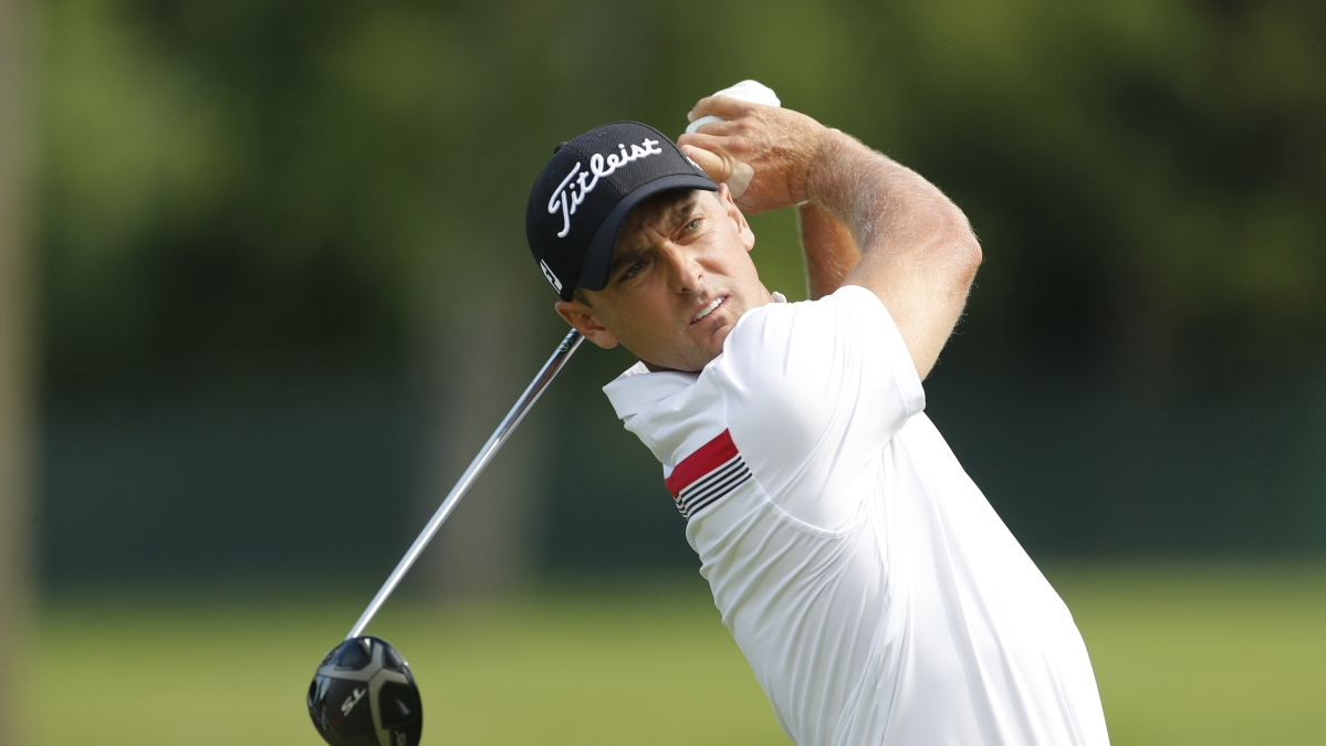 In this June 27, 2019, file photo, Charles Howell III drives during the first round of the Rocket Mortgage Classic golf tournament, in Detroit. Howell is the defending champion of the RSM Classic, having won in 2018.