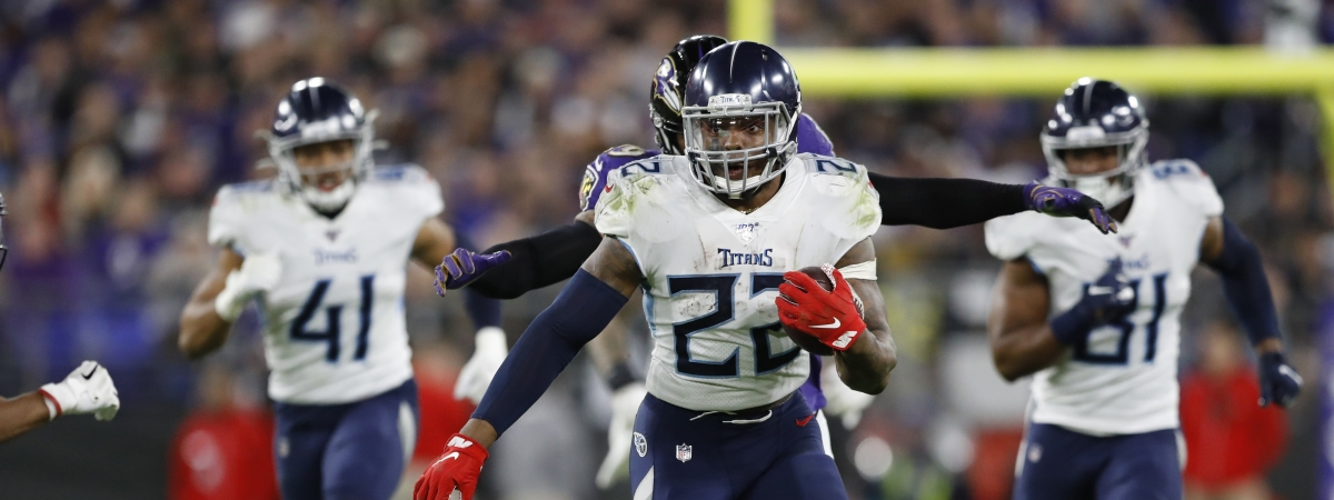 Derrick Henry ran wild in the Titans' first two playoff games. Can he do it again against the Chiefs?