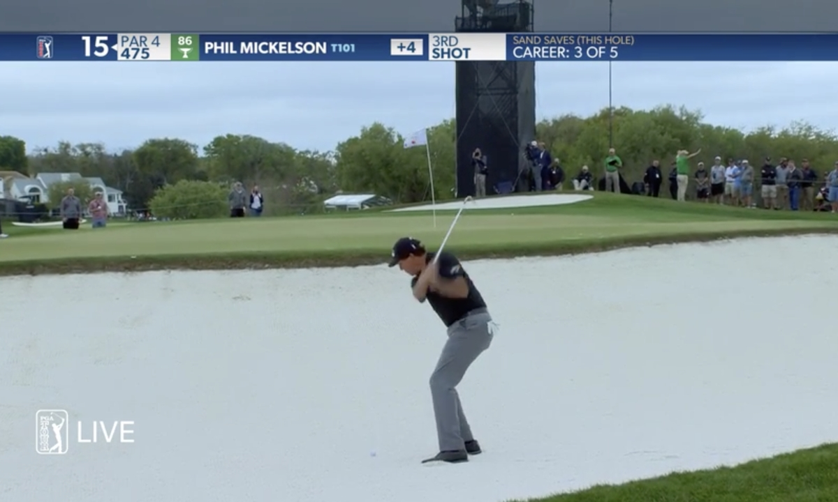 Video: Phil Mickelson makes birdie from the bunker at Arnold Palmer Invitational