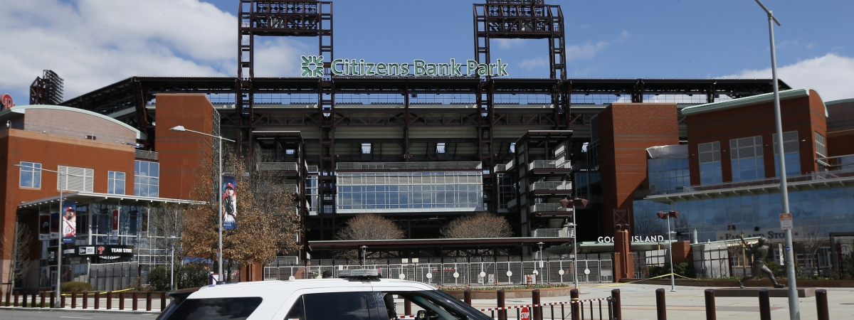 The baseball field at Citizens Bank Park will not see an Opening Day any time soon