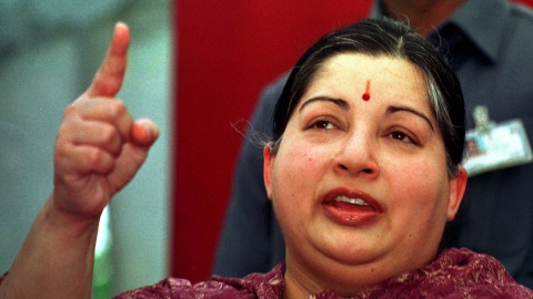 J Jayalalithaa, Chief Minister, Tamil Nadu. (Photo: Reuters)