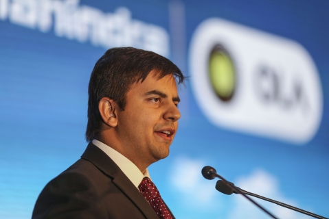 Bhavish Aggarwal, Chief Executive Officer of ANI Technologies, owner of ride-hailing service Ola. (Photograph: Dhiraj Singh/Bloomberg)