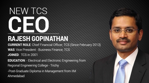 R Gopinathan Takes Over From Chandrasekaran As New TCS CEO