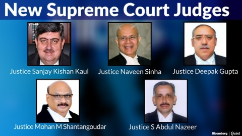 A Look At The 5 Newly Appointed Supreme Court Judges