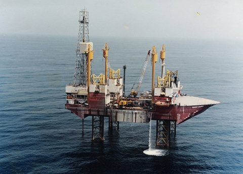 Drill-Ship Sagar Samrat at work in Mumbai High (Source: ONGC Website)