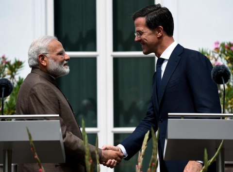 Prime Minister Narendra Modi and Netherland's Prime Minister Mark Rutte at a joint media briefing. (Source: Press Information Bureau)