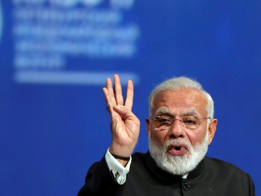 Indian Prime Minister Narendra Modi speaks at a forum in 2017. (Photo: PTI)
