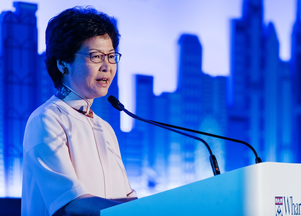 Lam Moves to Ease Hong Kong Housing Woes, Says City Is in Recession