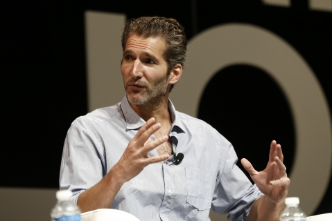 David Benioff speaks at the Cannes Lions International Festival of Creativity . (Photographer : Simon Dawson/Bloomberg)