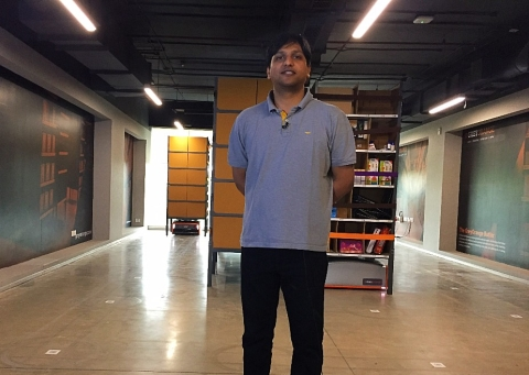 Akash Gupta, co-founder and CTO, GreyOrange. (Photographer: Nishant Sharma/BloombergQuint)