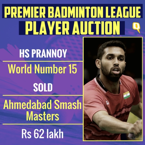 PBL Auction LIVE: HS Prannoy Most Expensive Player at Rs 62 Lakh