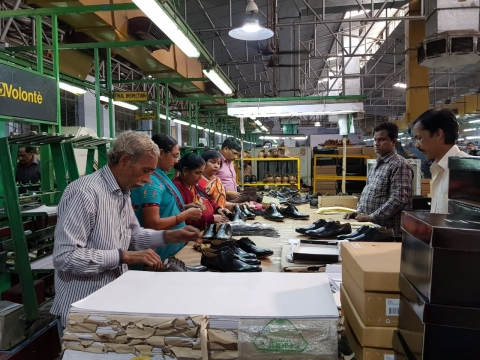 A shoe-making unit in Unnao, some 30 kilometres east of Kanpur. (Source: BloombergQuint)