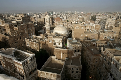 A view of the old city of Sana'a, Yemen, is seen on  April 29, 2006. (Photographer: Paul Hilton/Bloomberg News)