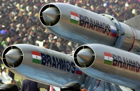 BrahMos Missile on display at the Republic Day parade. (Source: BrahMos Aerospace website)