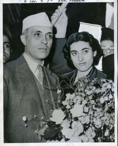 "(Photo Courtesy: <a href=""https://upload.wikimedia.org/wikipedia/commons/a/a2/Nehru_with_Indira.jpg"">Wikimedia Commons</a>)"