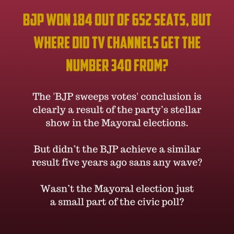 UP Civic Polls: If BJP Won 184 Seats, Why Did TV Channels Say 340?