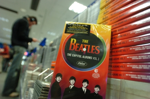 A Beatles box set released by EMI Records. (Photographer: Adam Berry/Bloomberg News)