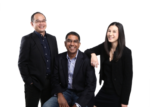Kris Chen, Anurag Avula and Yen Lim, co-founders Shopmatic. (Source: Shopmatic)