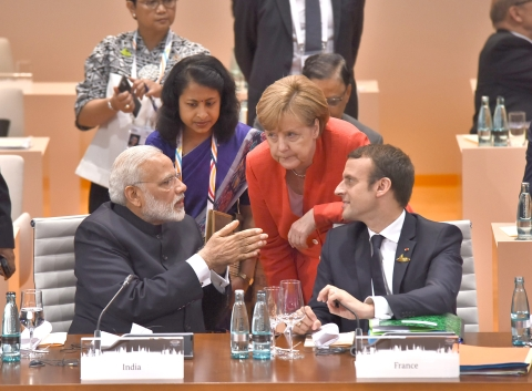 Prime Minister Narendra Modi at the Plenary Session of the 12th G-20 Summit, at Hamburg, Germany on July 7, 2017. (Photograph: PIB)