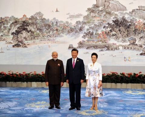 Prime Minister Narendra Modi and the President of the People's Republic of China,  Xi Jinping at the Welcome Banquet, in Xiamen, China on September 4, 2017. (Photograph: PIB)