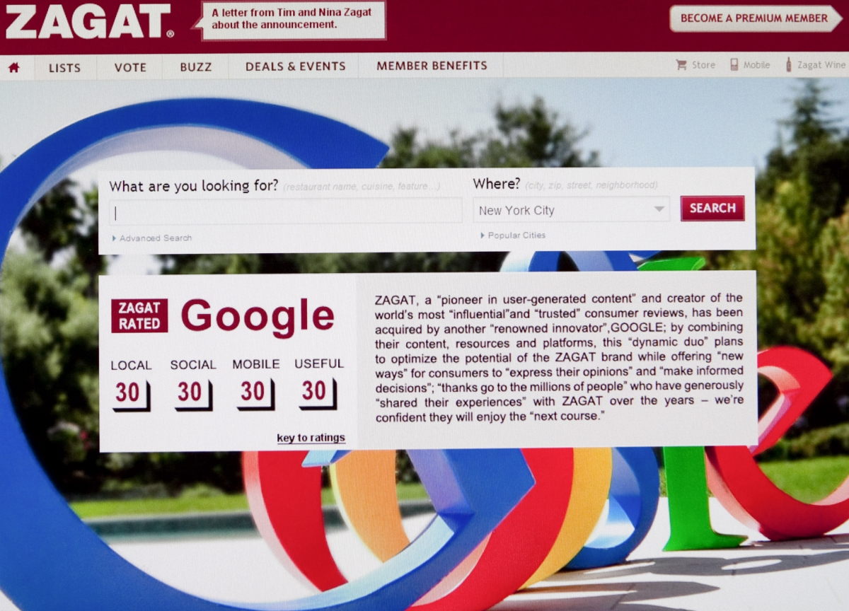 Here's How Google Almost Destroyed Zagat